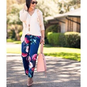 BANANA REPUBLIC Avery Floral Ankle Pants Size 6